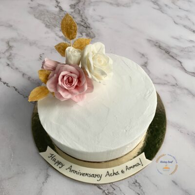 Vanilla Cake With Pineapple Compote And Whipped Cream Frosting